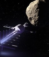Tow the asteroid with gravity.