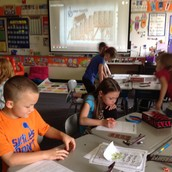 2nd graders learn fractions