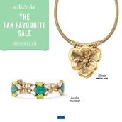 The bloom necklace and Jardin bracelet