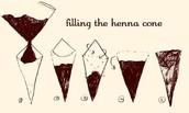 Mehendi cone filling