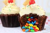 Skittle Cupcakes!