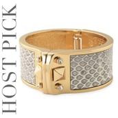 Gold & Snakeskin Cuff
