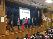 Ms. Pearlman's Panthers lead us through calming down when embarrassed at SEL assembly!