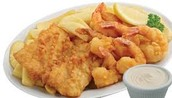 Enjoy the traditional Fish and Chips