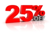 Can save up to 25% off on Monthly Specials!!