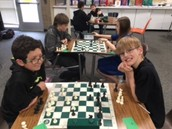 Dylan & Carter battle in the chess tournament!