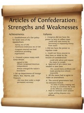 The strengths And weaknesses of the Articles of Confederation
