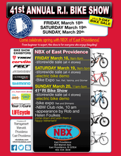 And don't miss the RI Bike Show at NBX of East Providence