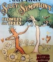 """הפוסטר המקורי של הסרט """"פרחים ועצים"""" (Flowers and Trees) מסדרת הסימפוניות הטיפשיות"""