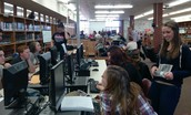The Media Center is busy, busy!
