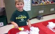 Snow in Sensory Table