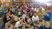 Gill Receives Books from Retired Teachers