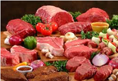 Cada día debes comer muchas carne.