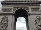 Vue de sol de l'Arc de Triomphe