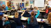 Ms. Kreuser's class showing school spirit today!