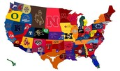 Favorite college football teams in fifth grade!