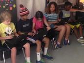 Lana Helping the Math Group!