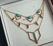 Turquoise Stone Layering Necklace (Versatile 3 in 1)