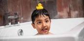 Taking baths
