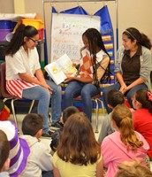 Wood NJHS Students come for Read Across America Day