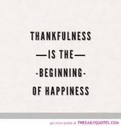 Virtue of the week - Thankfulness
