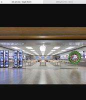 Inside of the Apple Store