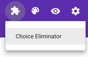 """When back on the form - click the PUZZLE piece at the top and select """"Choice Eliminator"""""""