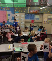 Plickers review for our math test.