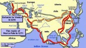 The route they took through the silk road