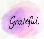 Word of the Week - GRATEFUL