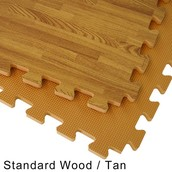 Wood Grain Reversable Foam Floor ~ $1.89 per SF