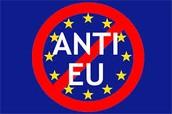 Anti Europese vlag, zeg nee tegen de EU.