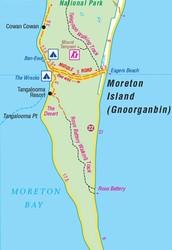 The Size of Moreton Island
