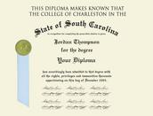 College of Charleston Diploma