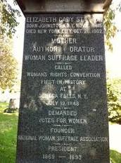 Grave of Elizabeth Cady Stanton