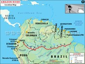 Map Of Where The Amazon River Travel Through