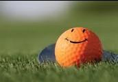 Happy golfball