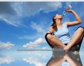 Drinking lots of water is healthy habit