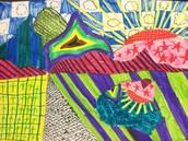 Third Grade Hockney Landscapes