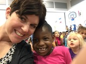 Mrs. Helt and a friend hanging out at MMM!