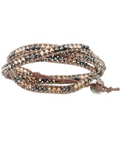 Wanderlust mixed metal triple wrap bracelet