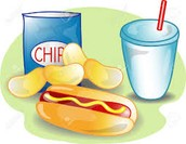 $5.00 plates will include 2 hot dogs, chips, soda, and a dessert