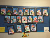 Inukshuk Painting/Collage by Mrs. Williams' Gr. 2/3 Class