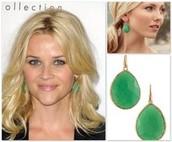 Serenity Stone Earrings- Jade