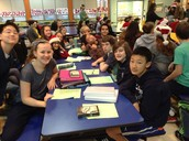 Sra. Pizzuto's 1st period Spanish at the sing along!
