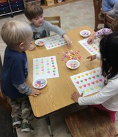 Candy heart pattern and fine motor practice