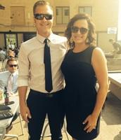 Chris and I at a wedding