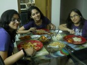 FOOD with FRIENDS = HAPPINESS