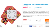 Chinese New Year Fortune Teller Game 5.00 for 46