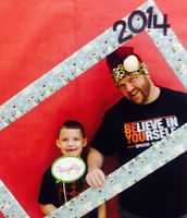 Mr. Ratliff and his son at Family Night December 2014